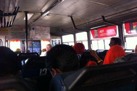 Viajando en bus por la India