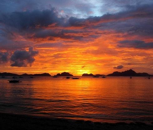 Atardecer en El Nido Filipinas