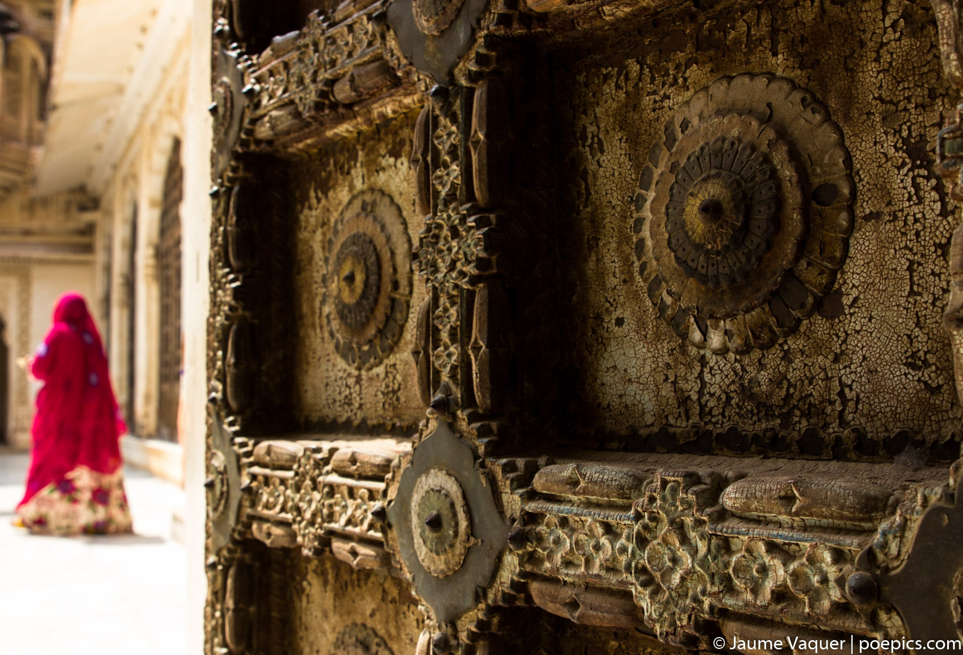 Mujer en Mehrangargh Fort, Jodhpur, Rajasthan, India