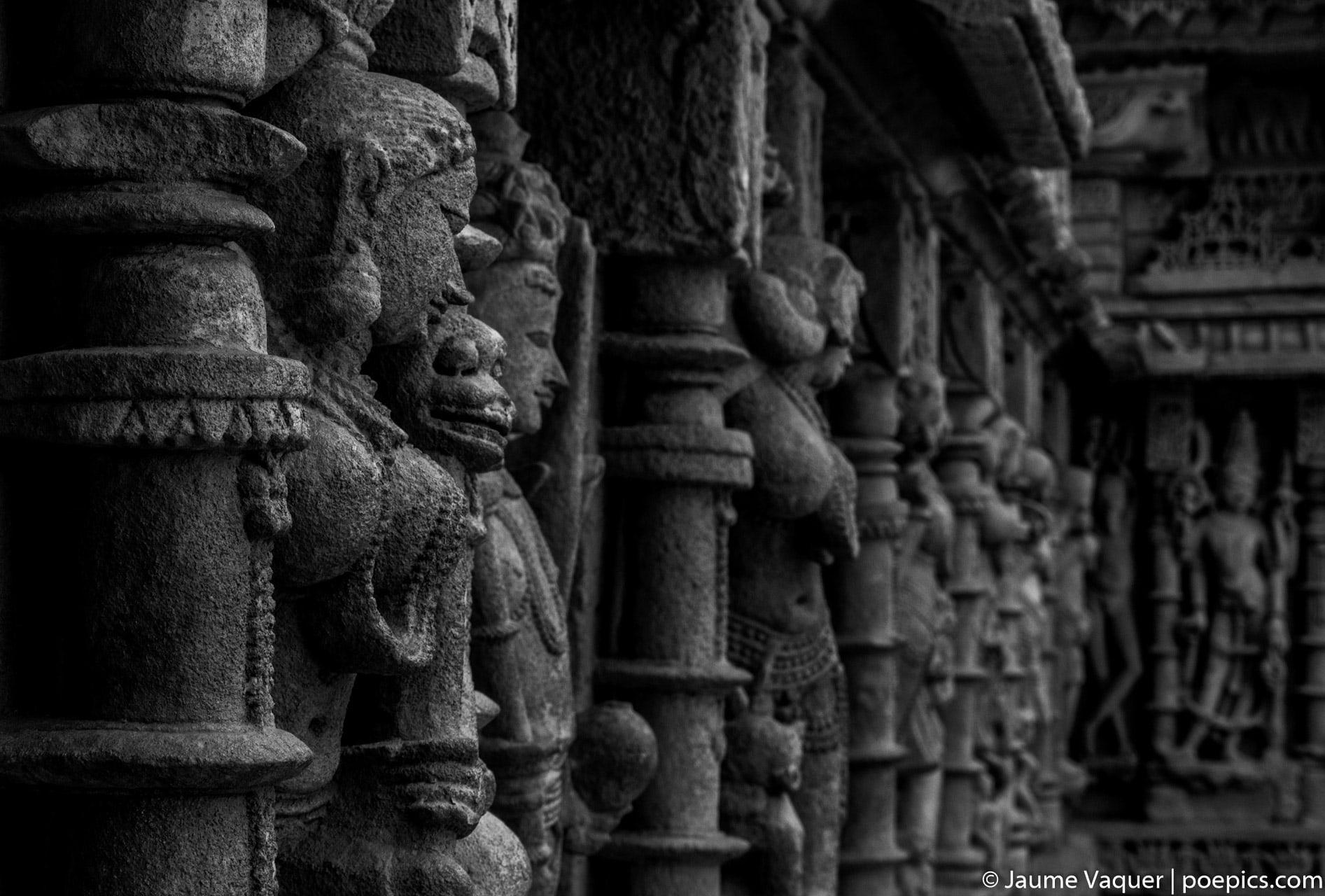 Esculturas de la India, Templo Rani Ki Vav, Patan, Gujarat, India