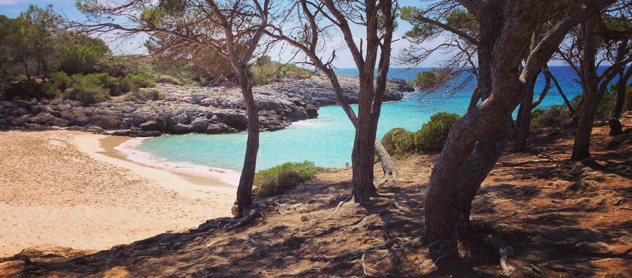 Mapa de Menorca, Puntos de interés, calas