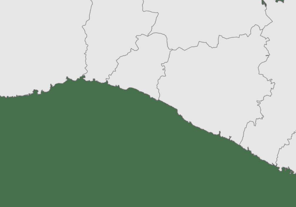 Mapa de Menorca, Calas de la costa sur