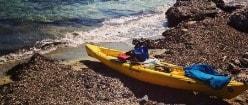 Mapa de Menorca, actividades, kayak