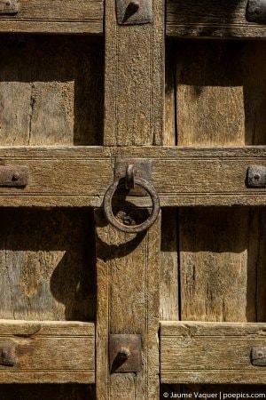 Detalle de una puerta en el fuerte de Jaisalmer, Rajasthan, India