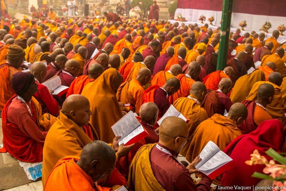 Congregación del Tipitaka en Bodhgaya