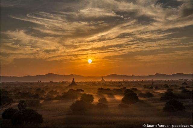 Sunset in Bagan Temples, Myanmar (Burma)