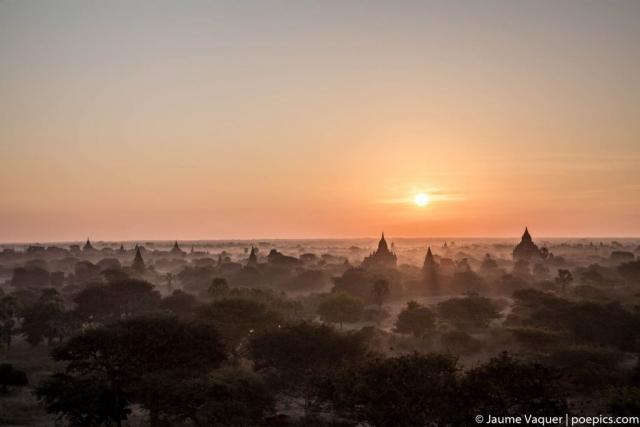 Sunrise in Bagan Temples, Myanmar (Burma)