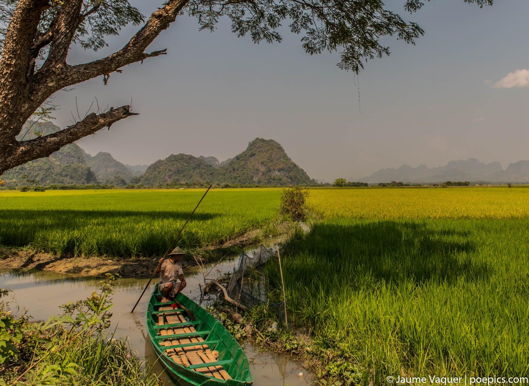 Landscape of Hpa-An, Myanmar (Burma)