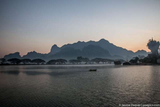 Sunrise in Hpa-An, Myanmar (Burma)