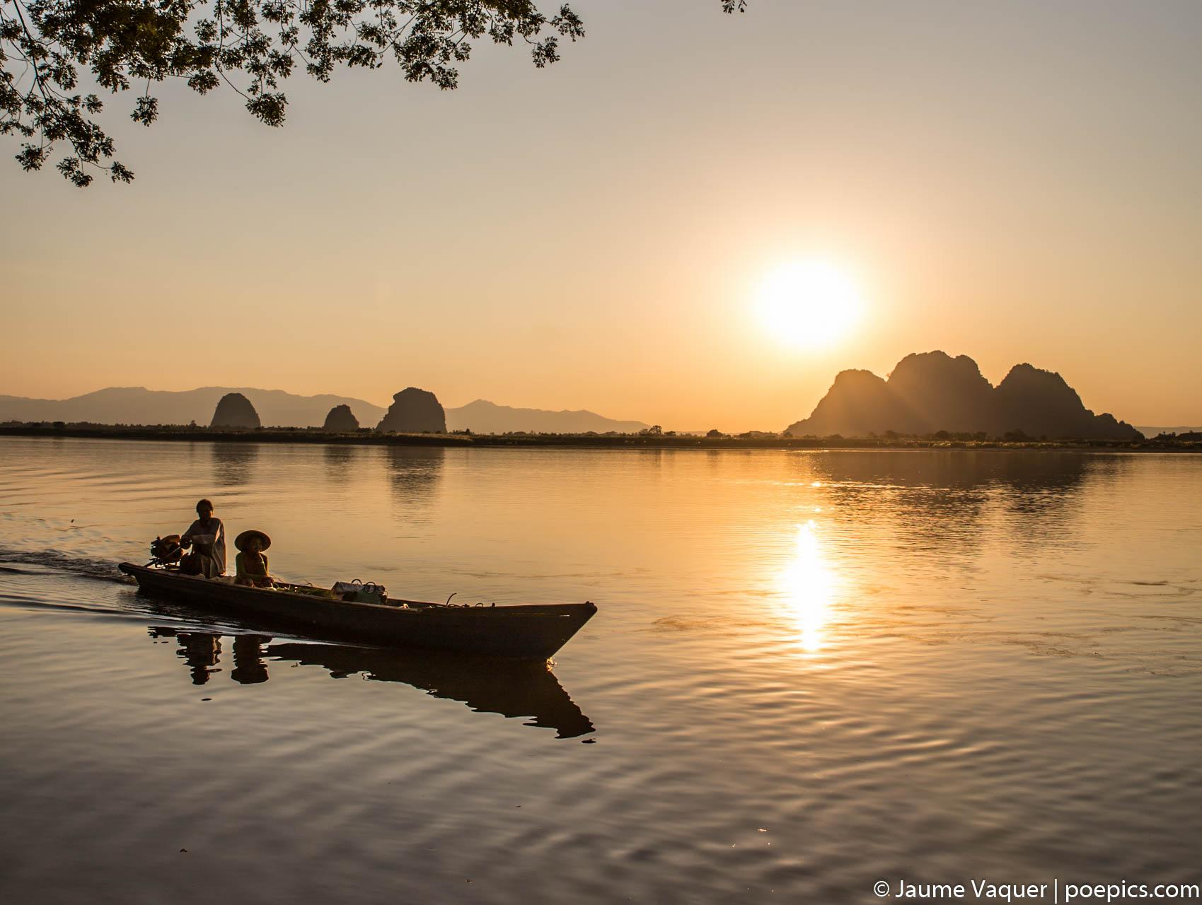 Sunset in Hpa-An, Myanmar (Burma)