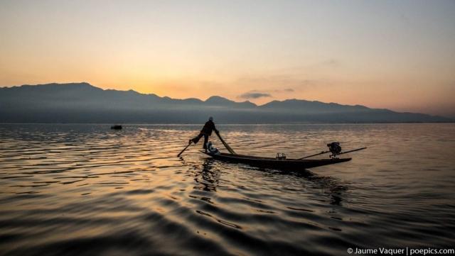 Real fishermen of Inle Lake, Myanmar (Burma)
