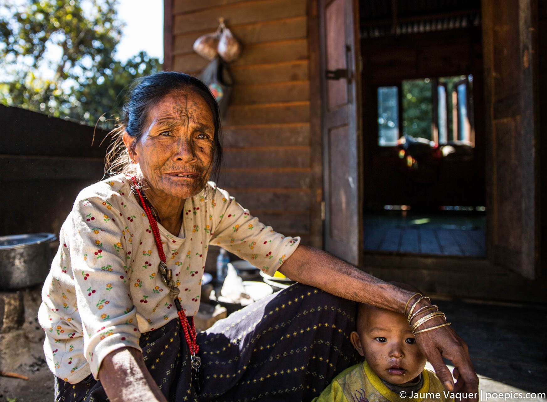 Chin tattooed woman, Myanmar (Burma)