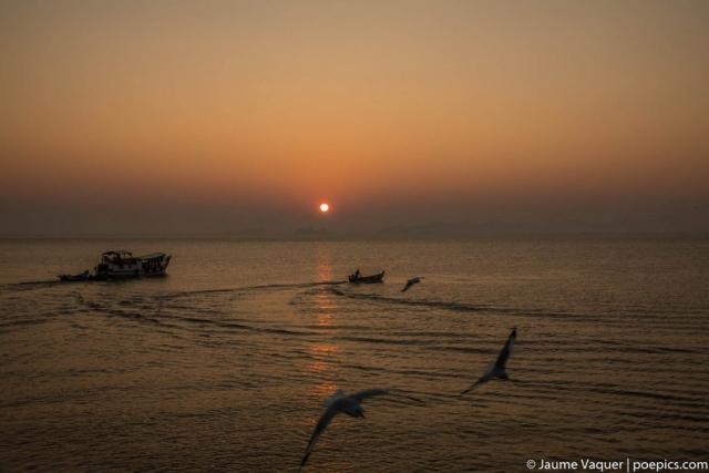 Sea scape at sunrise, Sittwe, Myanmar (Burma)